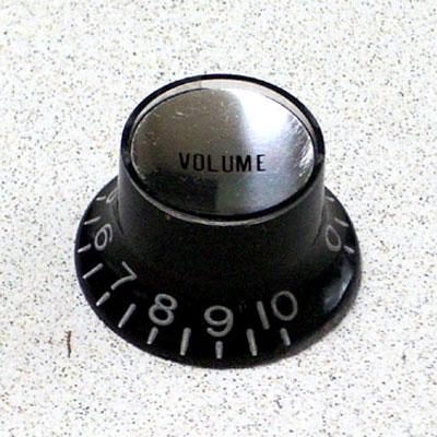 ギター用アクセサリー・パーツ, その他 Montreux Metric Reflector Knob Volume BK (Silver Top) : 8853