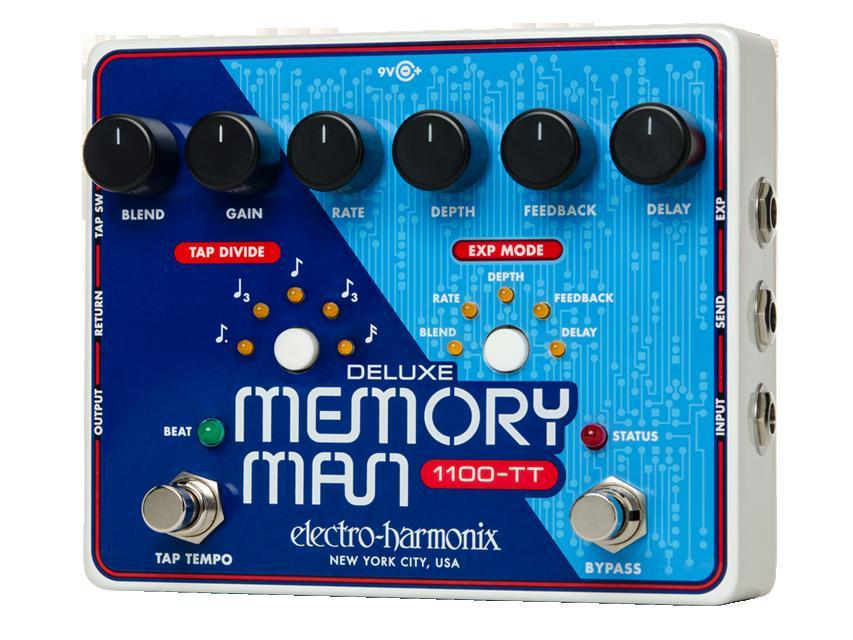 ギター用アクセサリー・パーツ, エフェクター Electro-Harmonix Deluxe Memory Man 1100-TT () Delay
