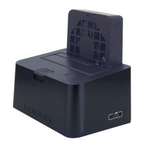 """USB3.0+eSATA接続の2.5""""&3.5""""SATAハードディスク用クレードル! ファンコントローラー付8cmク..."""