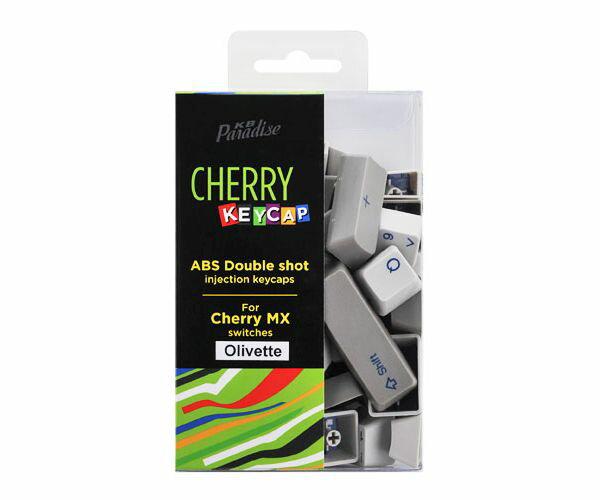 《送料無料》CHERRY MX軸 104英語キーボード用 2色成型カラーキーキャップ (Olivetteカラー)[CK-104OLI]