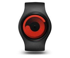 ZIIIROのデザインウォッチ「Gravity」シリーズ《送料無料》ZIIIRO Gravity Black - Red[Z0001WB...