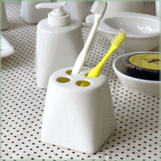 CPhome 牙刷架與溫暖的奶油色新生兒瓷 ♪ 牙刷持有衛生廁所廚房貓倚集會