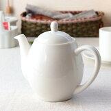 ぽってり形の2人用ティーポット茶こし付きポット紅茶日本茶緑茶茶こし付き茶漉し丸型無地シンプル白い食器陶器食器おしゃれ表示在庫限り国産瀬戸焼