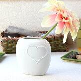 ブリリアントハートオーバル花瓶日本製瀬戸焼花器フラワーベース花瓶花入れ花束廊下玄関和室エントランス中型造花ハート陶器磁器陶磁器瀬戸物カフェおしゃれ