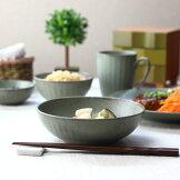 ブルーモザイク14.5cmシリアルボウル中鉢煮物鉢肉じゃが鉢ボール北欧デザイン便利白磁洋食器国産美濃焼