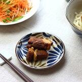 民彩はな絵小皿14cm日本製美濃焼渦型40皿小皿醤油皿漬物皿丸皿タレ皿定食皿小鉢小付け取り皿透かしがきれいプレート食器うつわ器皿お皿陶器磁器