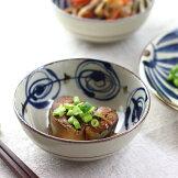 民彩渦紋中鉢13.5cm日本製美濃焼45鉢小鉢小皿中鉢中皿フルーツ小付小付けスープ小さい深いサラダボールボウル煮物シリアル食器うつわ器皿お皿