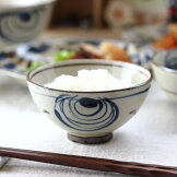 民彩渦紋茶碗11.5cm日本製美濃焼土物京茶碗飯碗ご飯お椀ご飯茶碗茶わんちゃわんライスお茶碗食器うつわ器皿お皿陶器磁器陶磁器瀬戸物カフェ