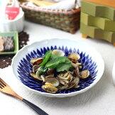 駒筋5.5寸浅鉢小鉢中鉢冷奴浅鉢煮物鉢おくらサラダラインボーダーシンプル国産和食器美濃焼