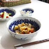 駒筋麺鉢うどん鉢丼どんぶり鉢煮物蕎麦日本料理かけ蕎麦ラインボーダーシンプル国産和食器美濃焼