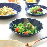 ブルーアンティーク14cmマルチボール昔のヨーロピアンな雰囲気♪小鉢煮物鉢毎日使えるレトロ手書き風