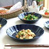 トスカーナ13cm小分けボールイタリアデザインを安心の美濃焼で♪小鉢煮物椀レトロコバルトブルーの唐草模様トスカーナシリーズ