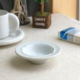 シンプル丸灰皿10.5cm国産美濃焼灰皿アシュトレイ白い陶器カフェ器お皿皿食器陶器磁器陶磁器シンプルおしゃれオシャレかわいいカワイイデザートスイーツ
