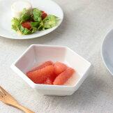 六角マルチボウル11.5cm日本製美濃焼小鉢小分け鉢小付け小器小椀サラダ鉢ミニ鉢ボウルボールカップクリーム表示在庫限り食器うつわ器皿お皿陶器磁器