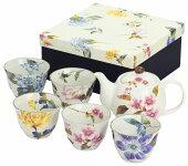 花かぐら5客ポット茶器