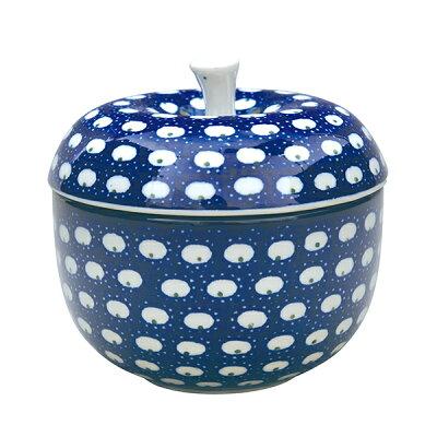 セラミカ(ツェラミカ)【ドヌーブ】アップルボックス(S)|ポーリッシュポタリー(ポーランド陶器・北欧・CeramikaArtystyczna)|※包装のし無料対応