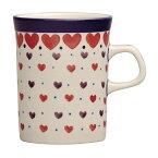 セラミカ(ツェラミカ)【プティハート】マグカップ(0.25L)|ポーリッシュポタリー(ポーランド陶器・ボレスワヴィエツ(ブンツラウ)陶器・北欧・Ceramika Artystyczna)|セラミカ専用ボックス入り|※包装のしメッセージカード無料対応