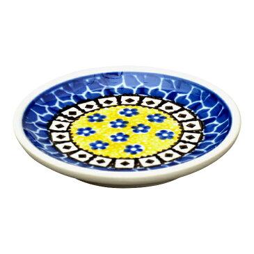 セラミカ(ツェラミカ)【サフラン】小皿(10cm)|ポーリッシュポタリー(ポーランド陶器・ボレスワヴィエツ(ブンツラウ)陶器・北欧・Ceramika Artystyczna)|セラミカ専用ボックス入り|※包装のしメッセージカード無料対応