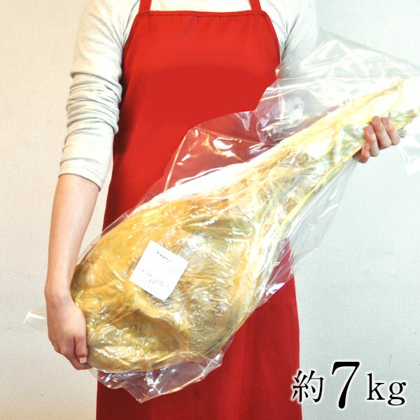 ハモンセラーノ骨付き12ヶ月熟成約7kg(6-8kg前後)ハムホルダー付セット[冷蔵]【送料無料】【2〜3営業日以内に出荷】