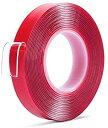 送料無料 強力 両面テープ 透明 ドアバイザー 強力両面テープ クリア 防水 水洗い可 DIY 10mm 1cm 3m 家具の固定 繰り返し使える はがせる粘着