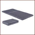 折り畳みマットレスココパームマット(ブルー・レッド・ブラック)