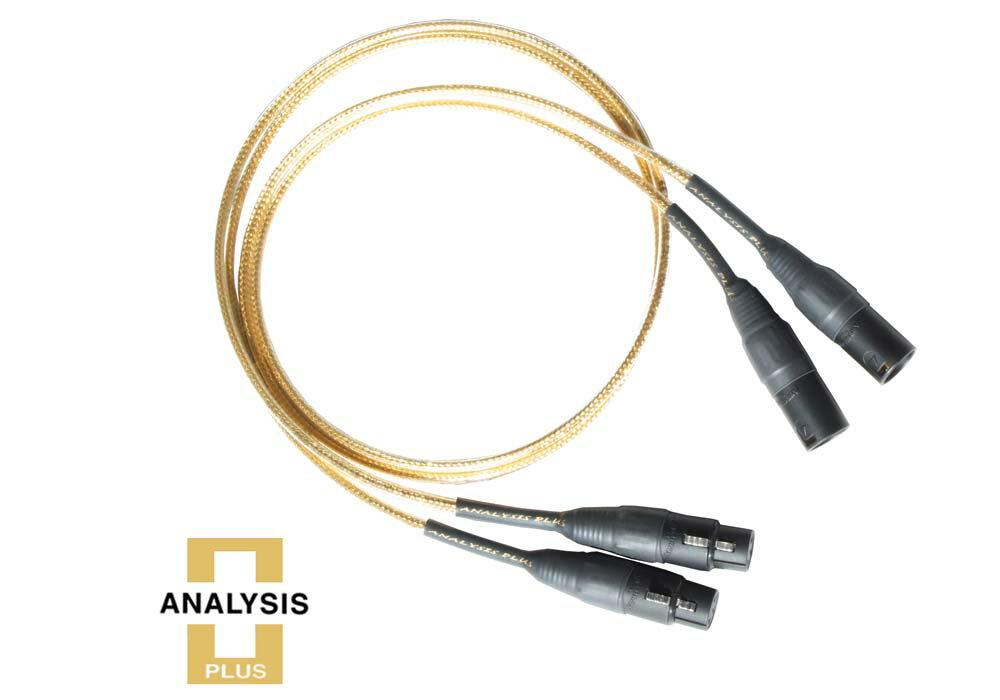 【納期1ヶ月】 ゴールデンオーバル 8m XLR ラインケーブル 1本 Analysis Plus 純金 中空楕円構造 マイクケーブル 高級 Golden Oval アナリシスプラス 送料無料
