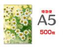 【特急便】A5クリアファイル500枚(単価107円)