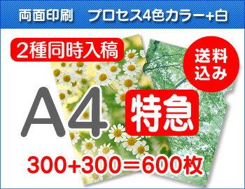 【特急便】A4クリアファイル300枚+300枚=600枚:クリアファイル・ファクトリー