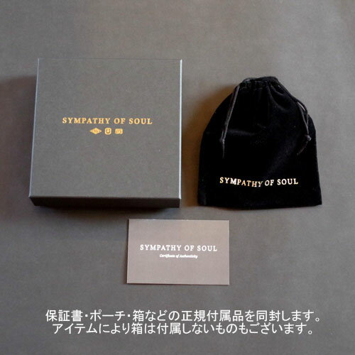 SYMPATHY OF SOUL Bless Coin Charm -K18 Yellow Gold+K18-2段階アジャストチェーン(細0.25)45cm