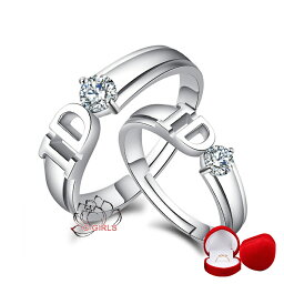 5A級 I DO ペアーダイヤモンドリング 2セット シルバー リング サイズが自由に調整 誕生日プレゼント 女性 メンズ s925 結婚指輪 贈物 ペア czダイヤモンド 記念日 プレゼント ベネチアスライド調整 ギフト お土産 ハロウィン