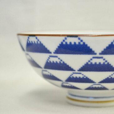 ドット調がどこか懐かしい【富士山と松竹梅柄の器♪お茶碗 (2柄)】波佐見焼 お祝い ギフト 日本製 陶器 器 うつわ カトラリー 和柄