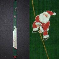 麻細タペストリー『サンタの宝袋』(掛軸、和風タペストリー)【クリスマス/冬】【楽ギフ_包装選択】【楽ギフ_のし宛書】
