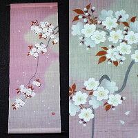 麻タペストリー『吉野桜』(掛軸、和風タペストリー)【春/さくら、サクラ】【送料無料】