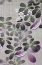 麻手描きタペストリー『五葉通草』(掛軸、和風タペストリー)【あけび/アケビ/秋】【送料無料】 3