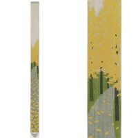 【予約】麻細タペストリー『銀杏並木』(掛軸、和風タペストリー)【秋/イチョウ】