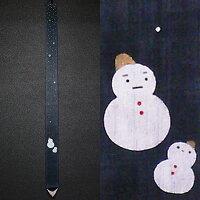 細タペストリー『雪だるま』(掛軸)