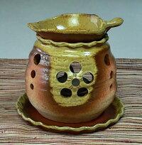 常滑焼ゆとり茶香炉(茶色、壺型)