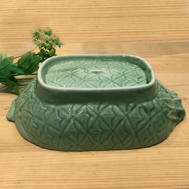 セラドン陶器セラドン深皿 グラタン皿タイ製皿タイ料理タイ雑貨アジアン雑貨タイ食器