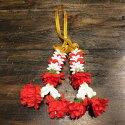 【マーライ2連小サイズ10cmイエロー】タイの花飾り長さ10cm造花で長く使用可タイ雑貨造花花飾りカラフルトゥクトゥク仏教花