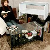 鏡面ガラステーブルファタム★木製テーブル机つくえローテーブルセンターテーブルコーヒーテーブルデザイナーズ鏡面加工鏡面仕上げホワイト白ブラック黒