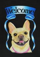 送料無料!ペットボード【愛犬の似顔絵を玄関のウェルカムボードやインテリアに】チョークアートで世界にひとつの作品を制作します。