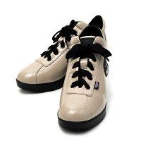 ルコライン,靴,アージレ,RUCOLINE,agile,ULTRA1959,光沢,無地,エナメル調,ベージュ,サイドファスナー付,agile-030BE