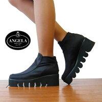 アンジェラ,靴,ANGELA,ハイカット,シューズ,厚底,ANGELA-025,キャタピラ,ソール