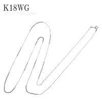 カットボールパーツが輝く♪デザインネックレス18金WG,80cm,ロングネックレスK18