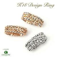 18金,地金,K18WG,K18PG,K18MIX,カットボール,デザイン,コイルリング,フリーサイズ,指輪