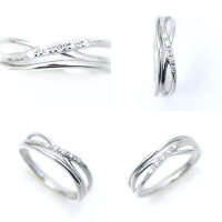 プラチナリング,指輪,Ptリング,Pt900,天然ダイヤモンド,3連調,デザイン,ラッキーリング,お守り,小指用,pinky,小さいサイズ