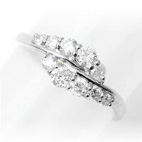 【Sweet10結婚10周年記念】ダイヤモンドリング0.5ctプラチナ指輪