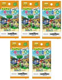 【新品】『とびだせどうぶつの森amiibo+』amiiboカード1パック3枚入り×5パックセット【ネコポス発送。送料無料。着日指定・代金引換発送不可】