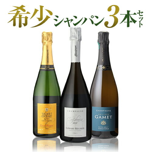 希少シャンパン3本セット