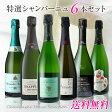 【送料無料】RM生産者入!特選シャンパーニュ飲み比べ6本セット
